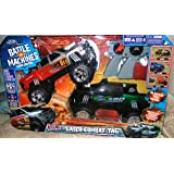 Battle Machines Laser Tag 2-pack 4x4 Trucks Chevy Silverado and Ford F-350 by Jada