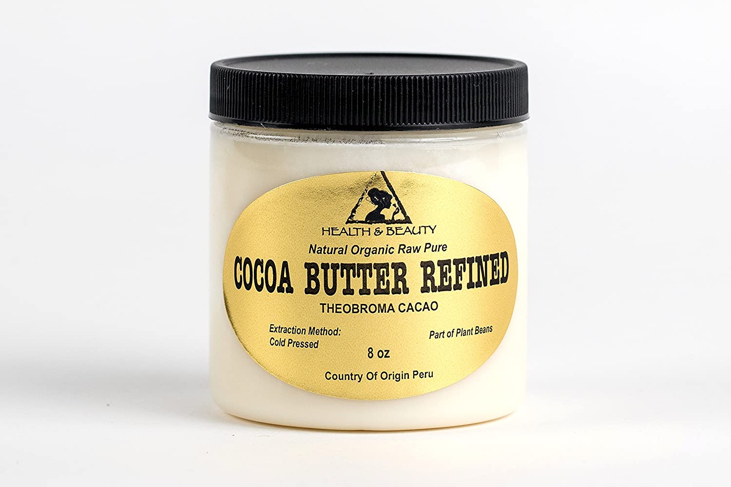 Cocoa / Cacao Butter Ultra Refined Organic Natural Raw Prime Grade A Fresh 100% Pure 8 oz, 237 ml H&B OILS CENTER Co.