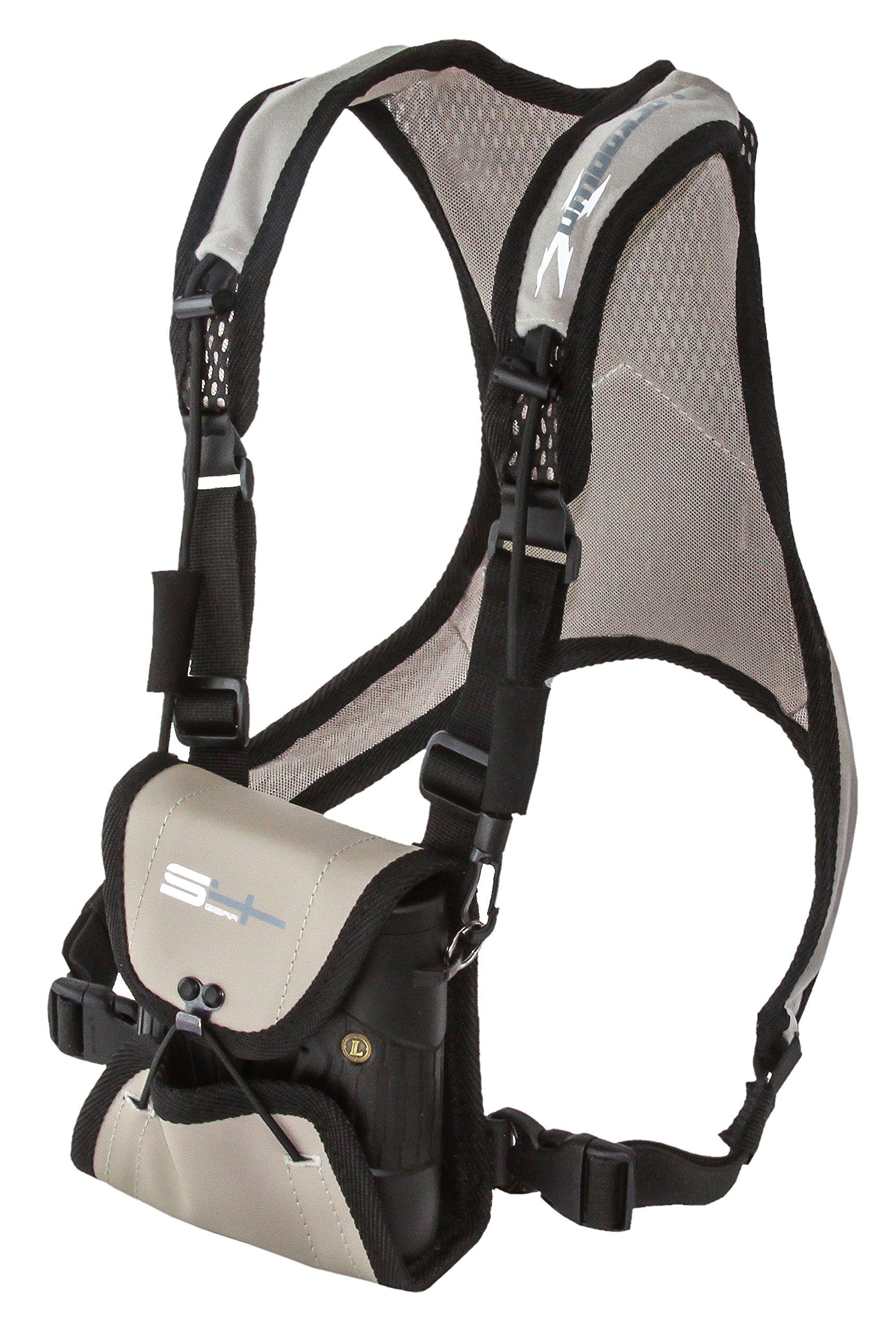 S4 Gear Lockdown X Hands Free Adjustable Binocular Harness for use with Leupold, Nikon, Swarovski, Bushnell, Canon Etc, Tan