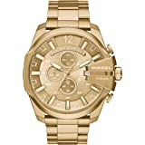 Diesel Men's Mega Chief Analog Analog-quartz Gold Watch, (DZ4360)