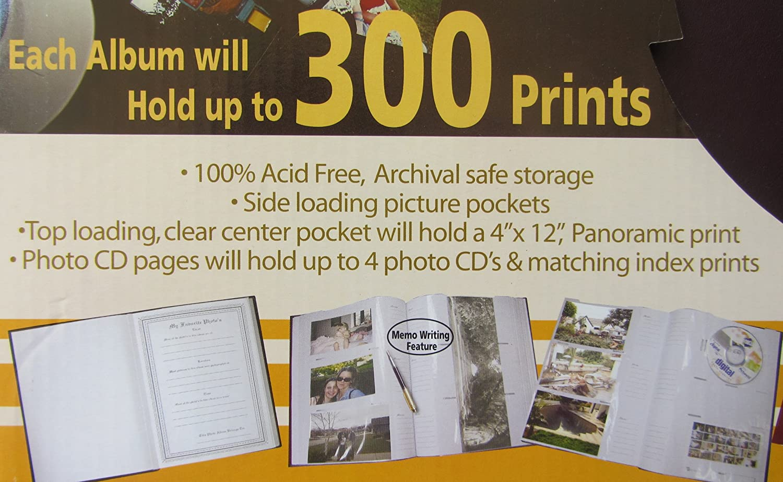 2 Pack Premium Bonded Leather Photo Albums 100 Acid Free Acid Free Archival Page Albums