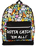Pokemon GOTTA CATCH EM ALL Official Backpack School Bag with Adjustable Straps