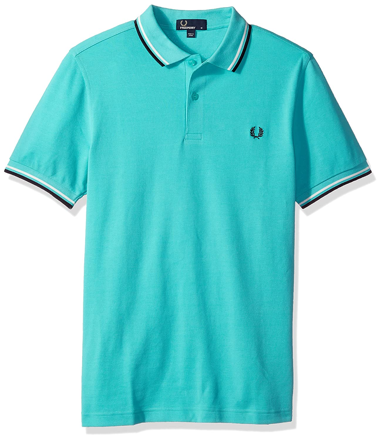 Fred Perry Herren Poloshirt Twin Tipped Polo Shirt, Pepmnt/SW/Nvy, X-Large:  Amazon.de: Bekleidung