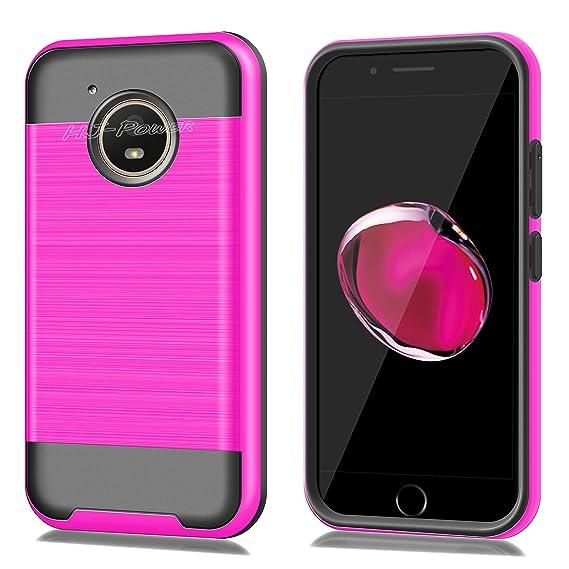 pretty nice a58bf fa182 Moto E4 Case, HJ Power[TM] For Motorola Moto E4/XT1767 (Verizon, Sprint,  Boost Mobile)--CH3 HYBRID Case Black Pink