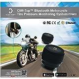 Cliff-Top® Sistema di monitoraggio della pressione della gomma del motociclo Bluetooth (TPMS) + due sensori esterni (solo Apple IOS)