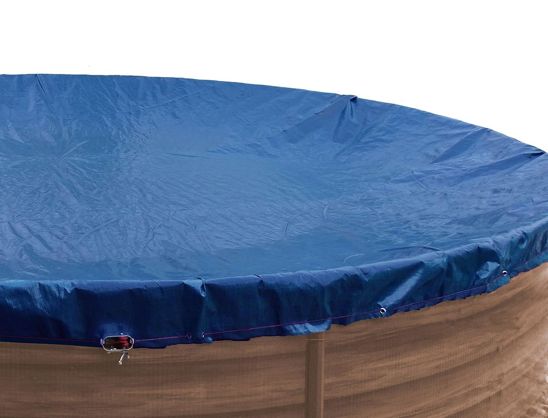 Grasekamp Abdeckplane Pool oval 540x350 cm Winterabdeckplane Royalblau