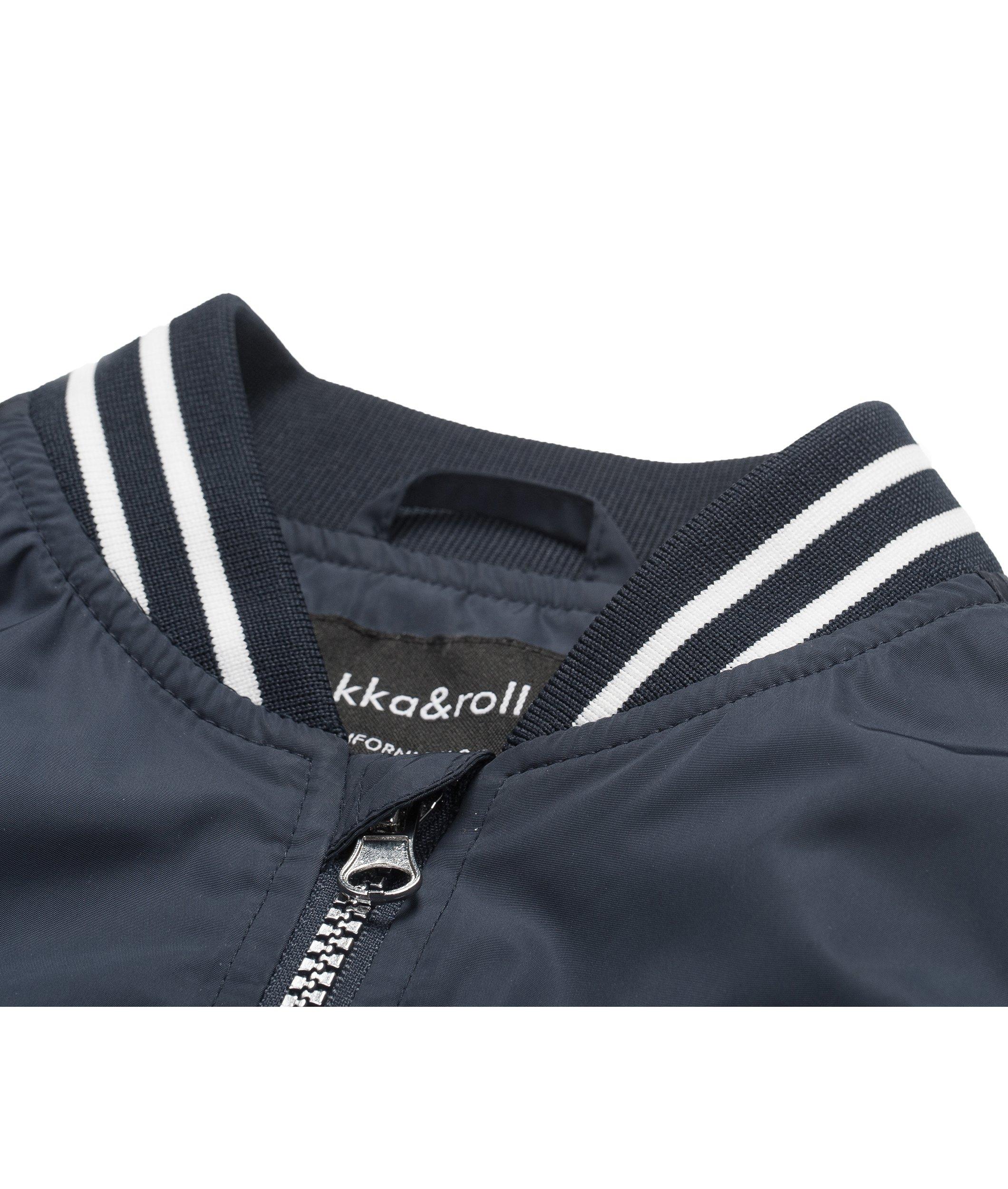 Rokka&Rolla Boys' Zip Up Lightweight Casual Fashion Wind Flight Bomber Jacket by Rokka&Rolla (Image #4)
