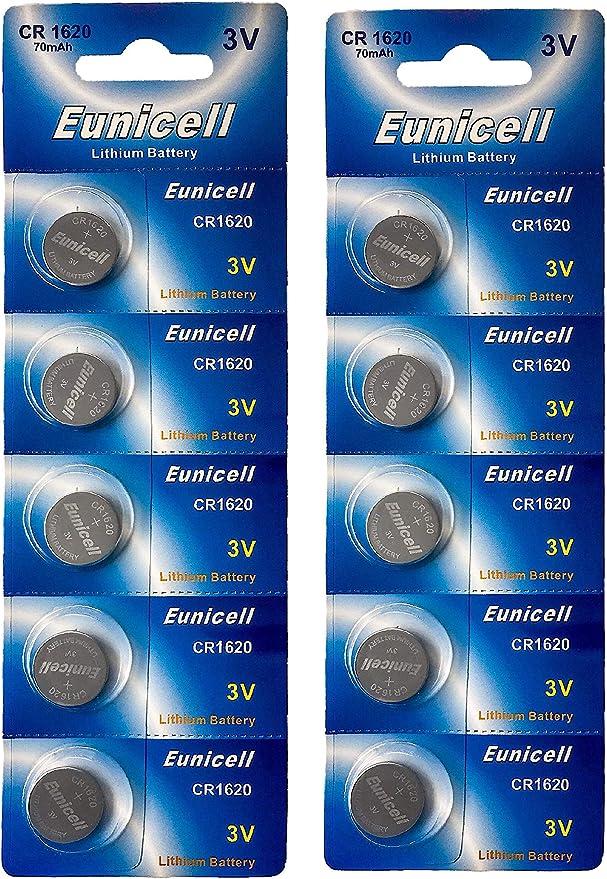 Eunicell 10 X Cr1620 3v Lithium Knopfzelle 70 Mah Elektronik