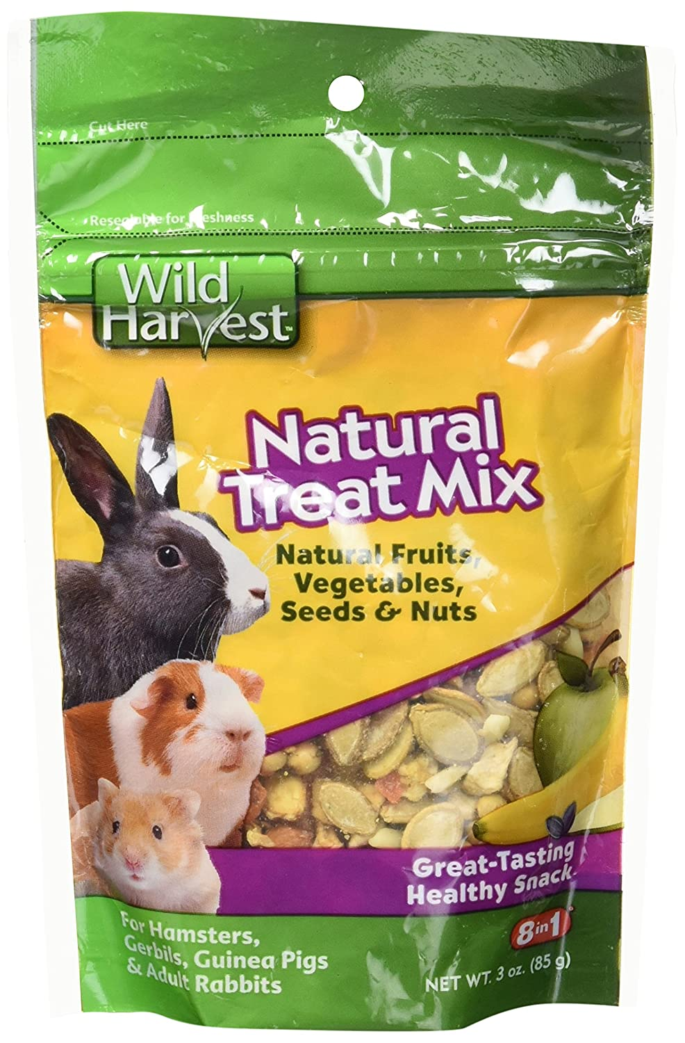 Wild Harvest Natural Treat Mix For Small Animals, 3-Ounce (P-84151)