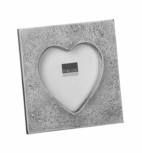 Pretty Silver Heart Shaped Photo Frame (Small): Amazon.co.uk ...