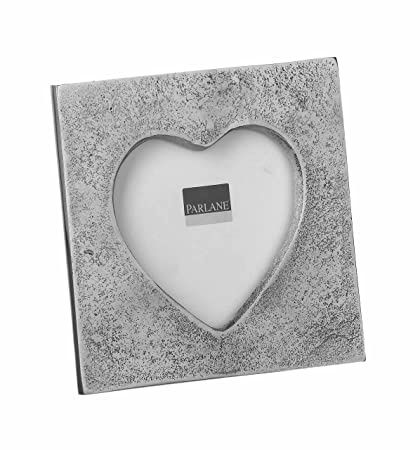 Pretty Silver Heart Shaped Photo Frame Small Amazoncouk