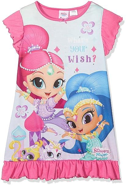 Shimmer & Shine Whats Your Wish, Camisón para Niñas, Rosa (Pink 014
