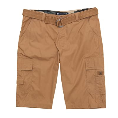 Akademiks Men's Ripstop Beekman Belted Cargo Shorts: Clothing