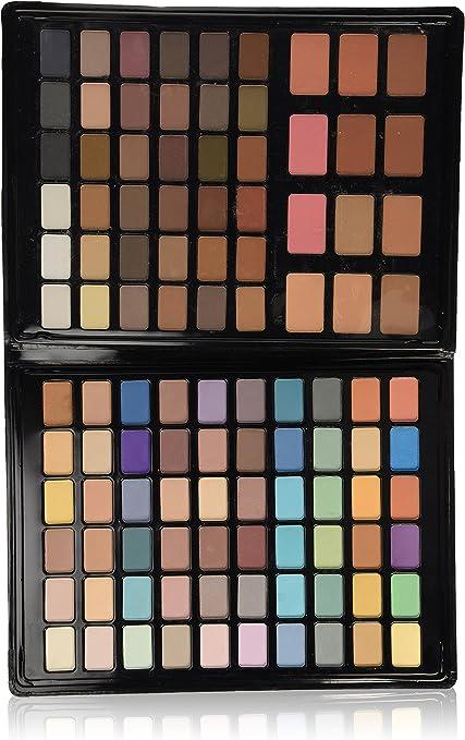 VicMartin - Estuche de maquillaje - 96 sombras + 12 coloretes: Amazon.es: Belleza