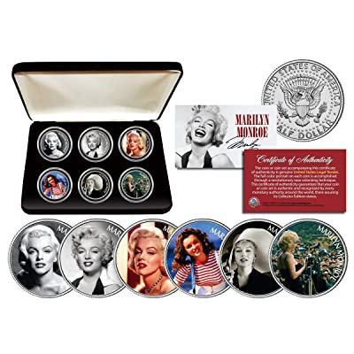 MARILYN MONROE GLAMOROUS PORTRAITS Colorized JFK Half Dollar 6-Coin Set w/Box: Toys & Games