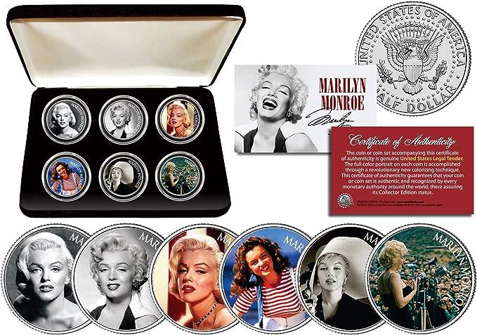 Marilyn Monroe FAMOUS PORTRAIT w// RED SIGNATURE JFK Half Dollar LICENSED Coin