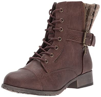 Jellypop Women's Dita Combat Boot, Brown Distress Small, ...