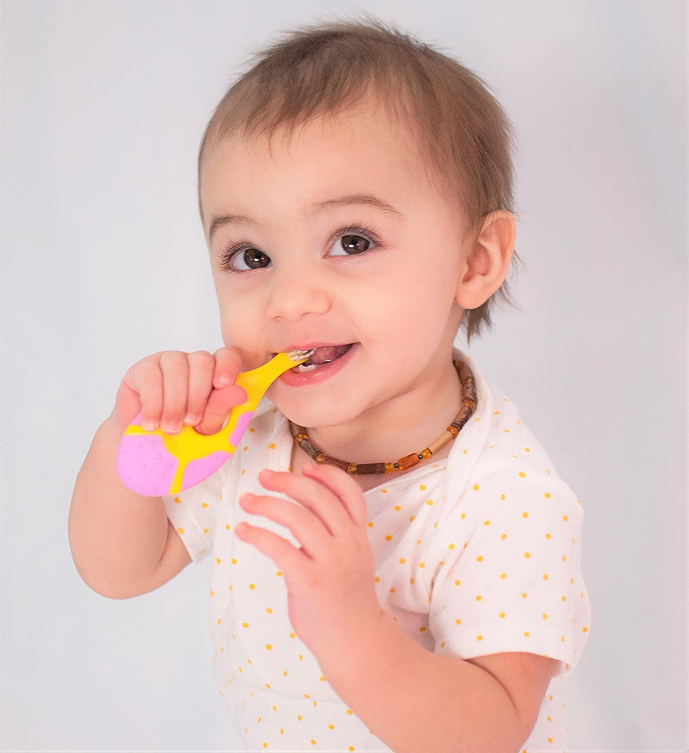 Amazon.com : Farber Baby Toothbrush & Toddler Toothbrush For 0-2 Years Old | Teething Finger Handle | BPA Free with Baby Toothpaste Indicator | Extra Soft ...