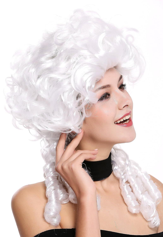 WIG ME UP ® - DH1009-ZA62 Peluca señoras Mujer Carnaval Barroco Renacimiento Romanticismo menina Princesa rizos Espiral bucles Blanca: Amazon.es: Juguetes y ...