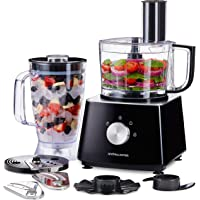 Andrew James Multifunctional Food Processor with Blender Jug and Attachments