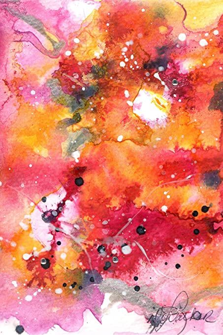 holiday abstract blank note card assortment 6 blank artistic all occasion watercolor cards with - Artistic Holiday Cards
