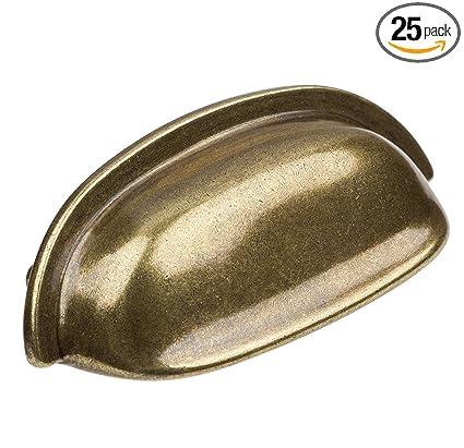 GlideRite Hardware 4081-AB-25 2.5 inch Cc Antique Brass Classic Bin Cabinet  Pull - GlideRite Hardware 4081-AB-25 2.5 Inch Cc Antique Brass Classic Bin