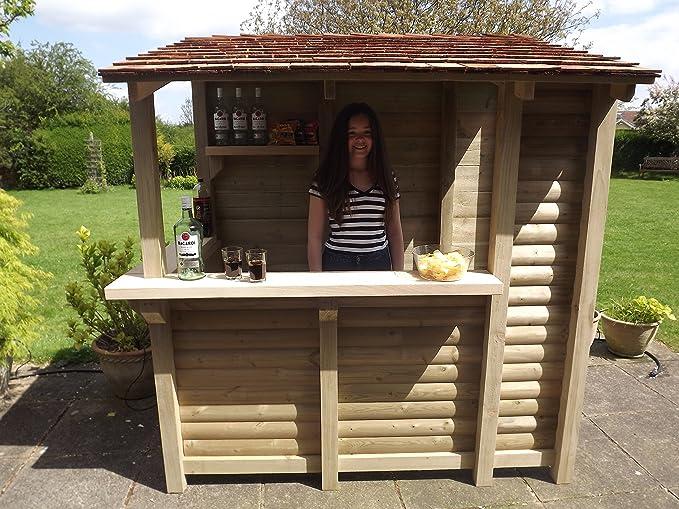 Tanglewood Cedar - Barra de bar de cedro para jardín hecha a mano (bar de mojitos).: Amazon.es: Jardín