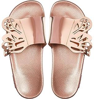 Slydes Port Rose Gold Women/'s Slider Sandal