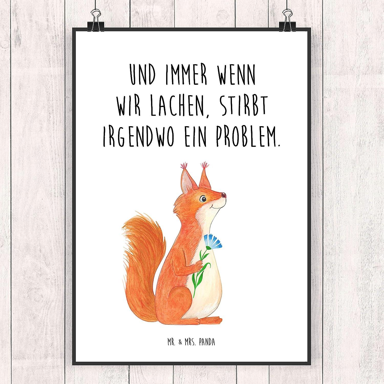 Mr. & Mrs. Panda Geschenk, Wandposter, Poster Din A3 Eichhörnchen ...