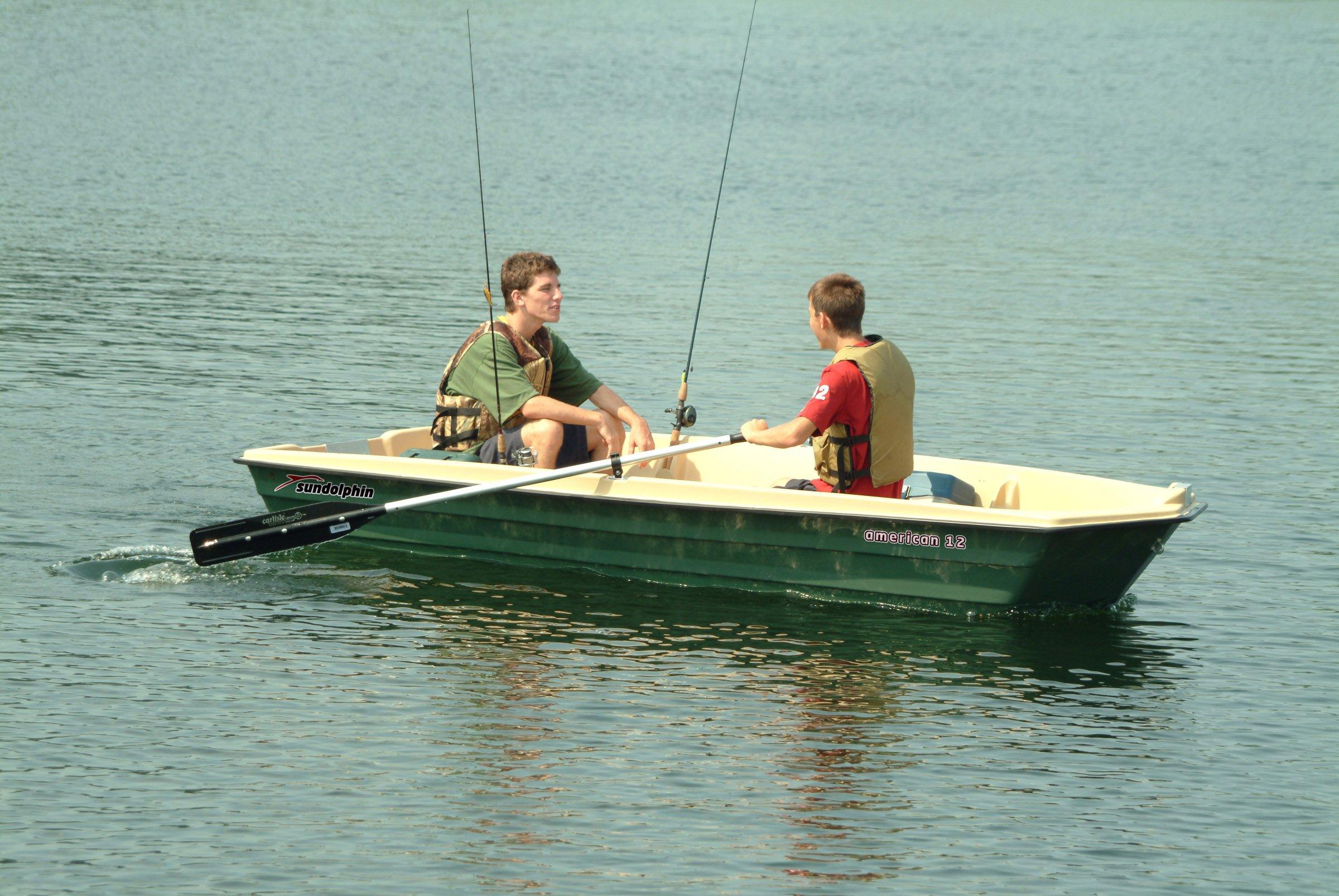 Sun Dolphin American 12 Jon Fishing Boat (Beige/Green, 12-Feet) by Sun Dolphin (Image #5)