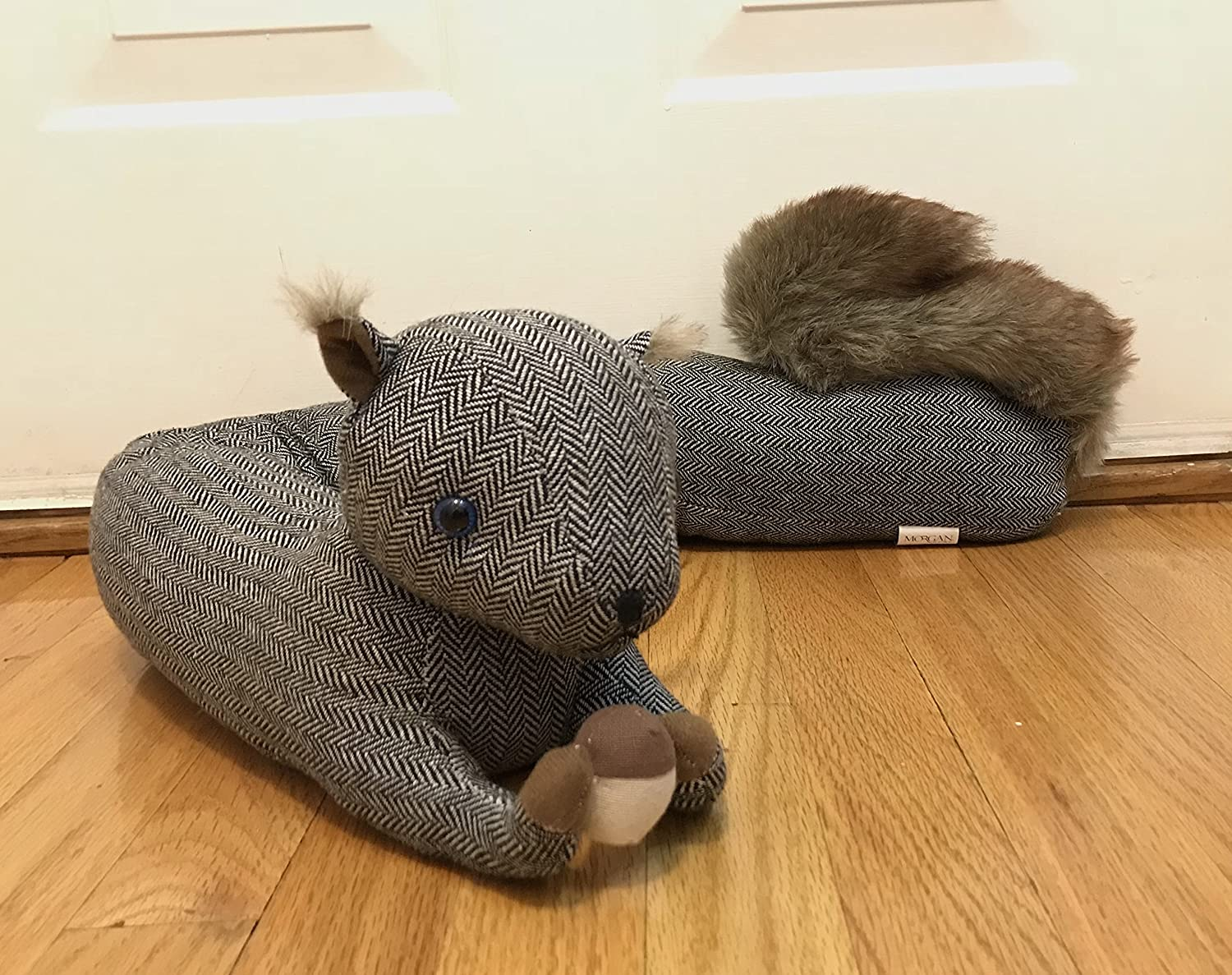 Keep the Cold Out! Squirrel with Nut Animal Door Draft Stopper Save Energy