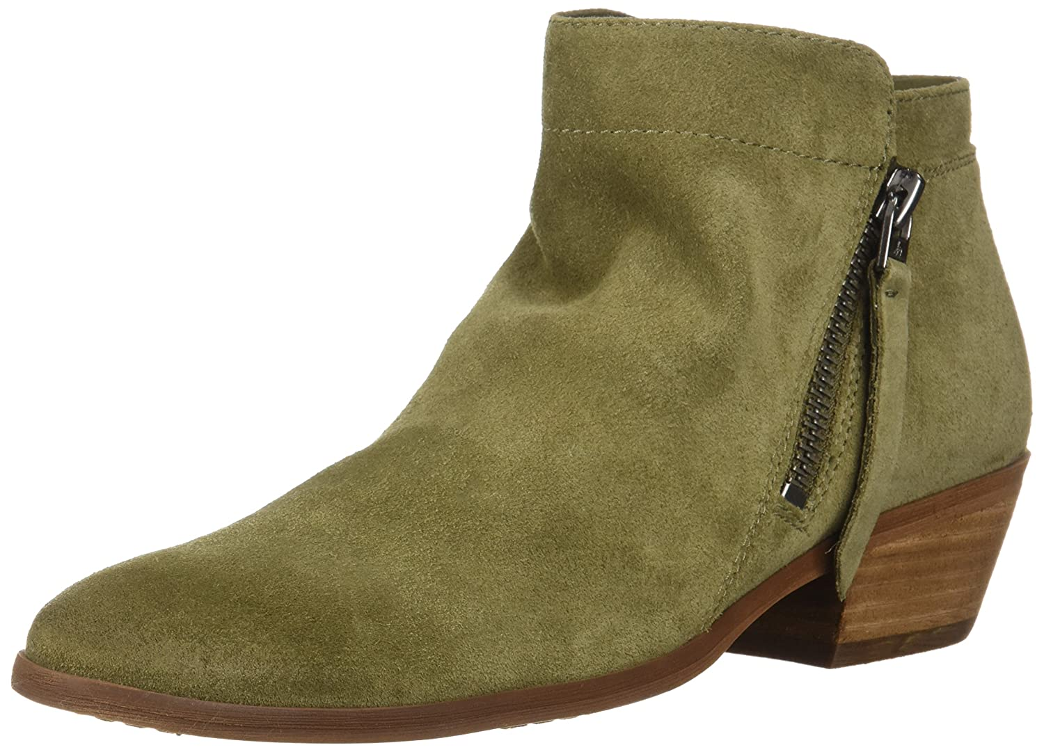 Sam Edelman Women's Packer Ankle Boot B07C9H1YL4 7 B(M) US|Moss Green Suede