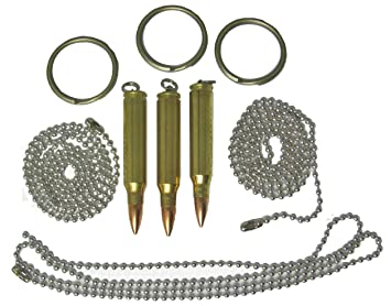 Amazon set of three bullet pendants dogtag necklace or key set of three bullet pendants dogtag necklace or key rings 223 mozeypictures Gallery