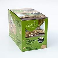 Rawnata Raw Manitoba Flax Crackers, High in Omega-3, 28g per Snack Pack, Italian, 12 Count