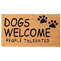 Juvale Dogs Welcome People Tolerated Doormat (Coconut Coir)