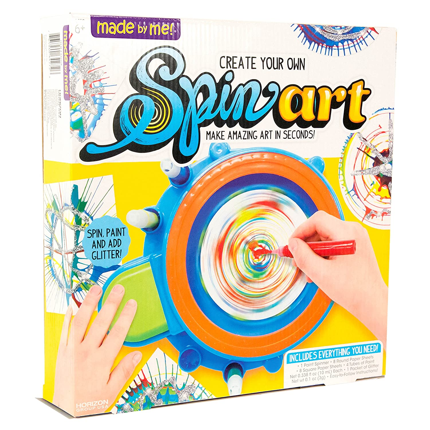 amazon com made by me spin art by horizon group usa toys games