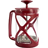 Primula Tempo Coffee Press – For Rich, Non-Bitter Coffee – French Press Design – Easy to Use – Makes 6 Cups – Red