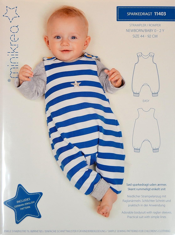 Schnittmuster Strampler für Neugeborene und Babys / Gr. 44-92cm ...