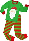 Amazon Price History for:Girls Santa Christmas Pajamas For Boys Cotton Clothes Kids Pjs Toddler Sleepwear Pants Set