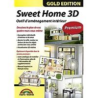 Sweet Home 3D Édition premium avec 1100modèles 3D supplémentaires et manuel imprimé, l'idéal pour les architectes et planificateurs – Pour Windows 10, 8, 7, Vista ou XP et MAC