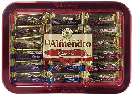 Bandeja turrones de chocolate El Almendro 375g
