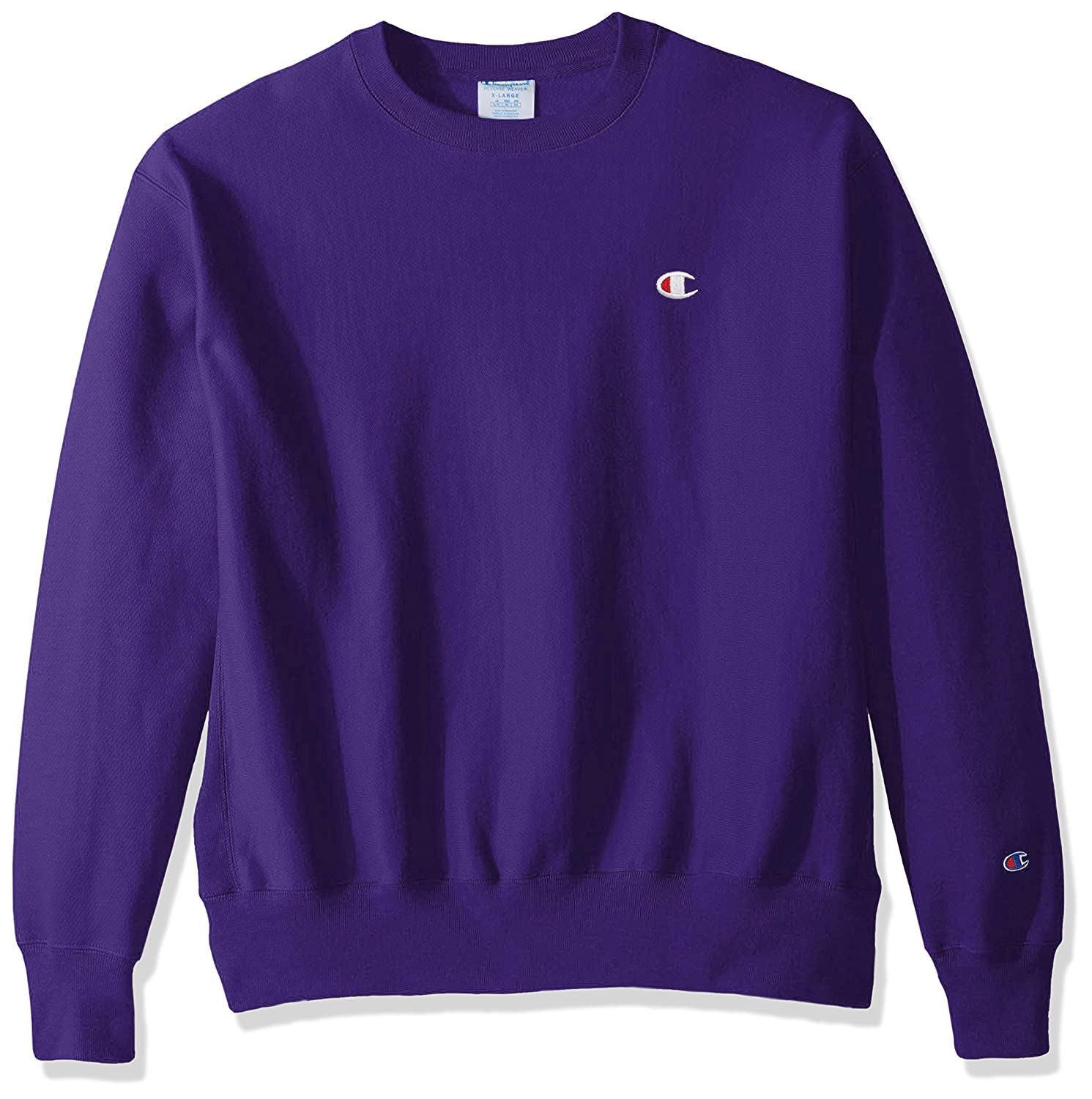 201b34a2 Amazon.com: Champion LIFE Men's Reverse Weave Sweatshirt,Purple/Left Chest