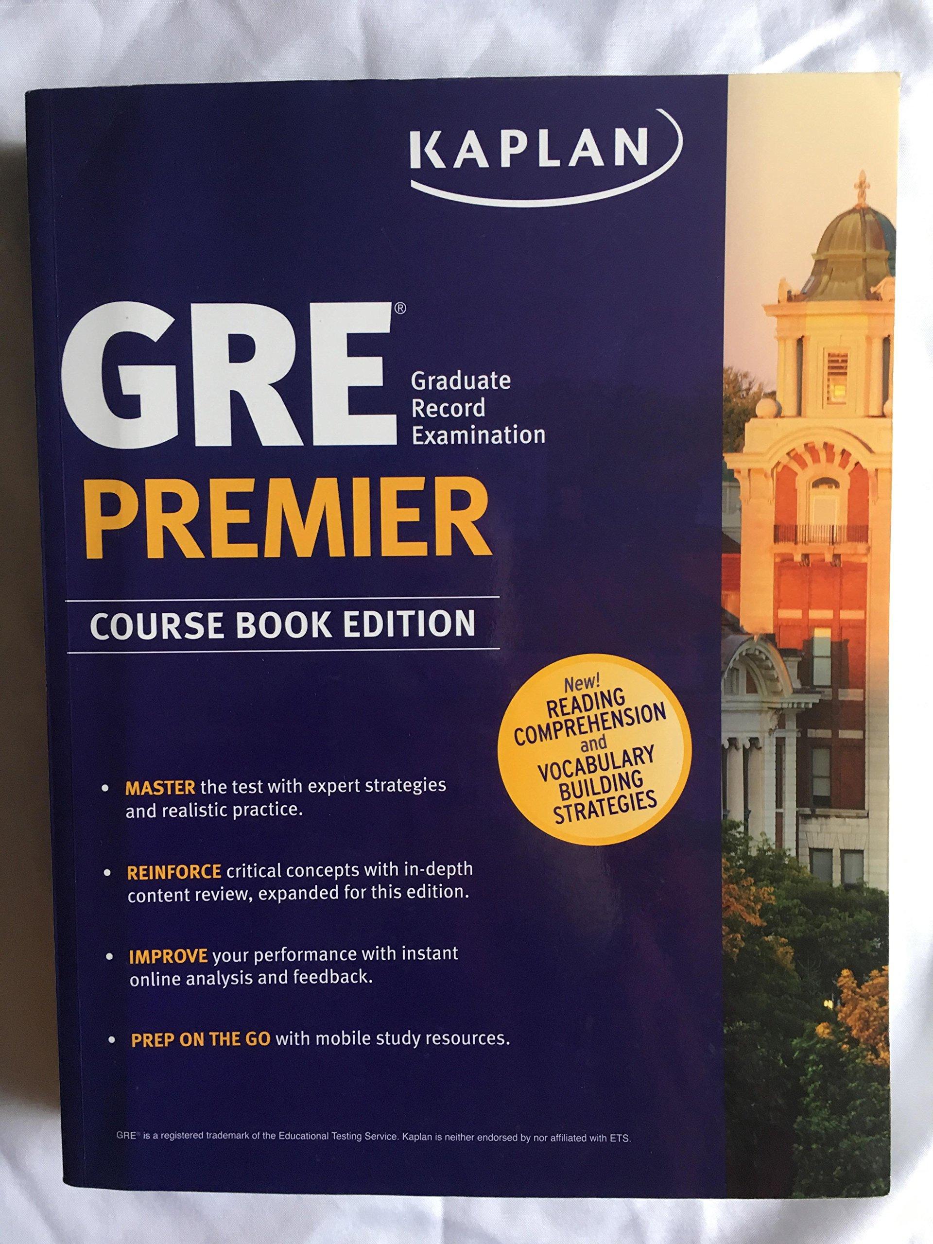 Kaplan GRE Premier Course Book Edition: Kaplan Test Prep: 9781506207070:  Amazon.com: Books