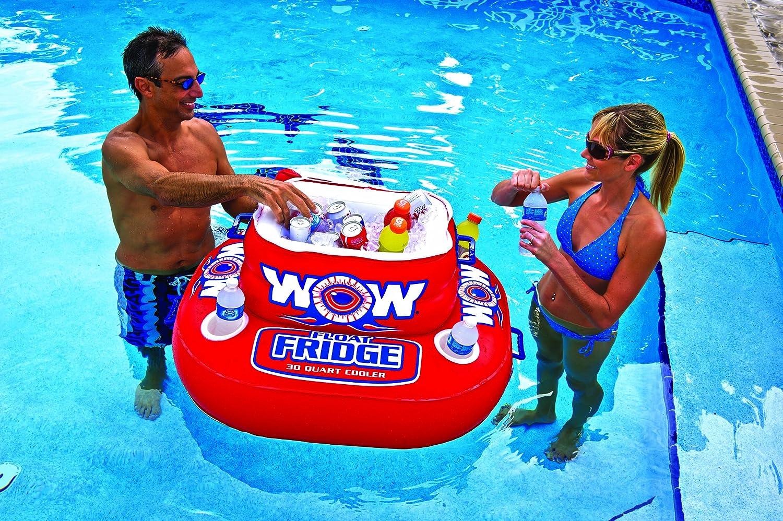 Wow Mundial de Deportes Acuáticos, Flotador Inflable de Nevera, Cooler, 30 de Quart Capacidad, para hasta 30 latas: Amazon.es: Deportes y aire libre