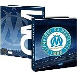 Classeur A4 OM - Collection officielle OLYMPIQUE DE MARSEILLE - football Ligue 1 - Cartonné - Epaisseur 4 cm 4 anneaux