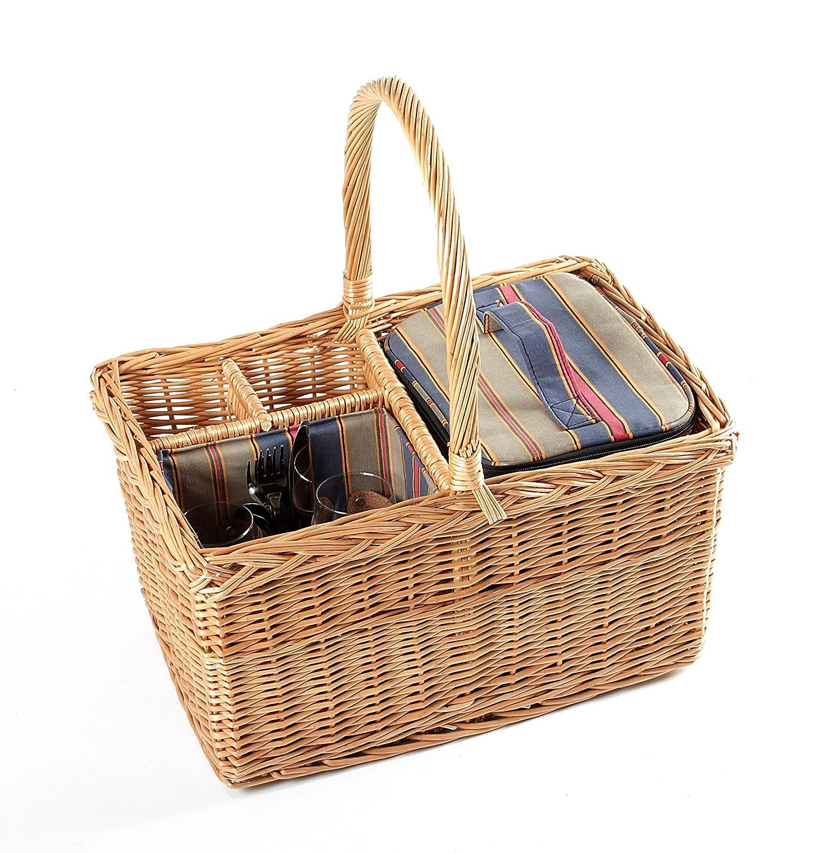 Greenfield Collection Kensington - Cesta clásica de picnic en mimbre, color marrón I-Fulfilment H006