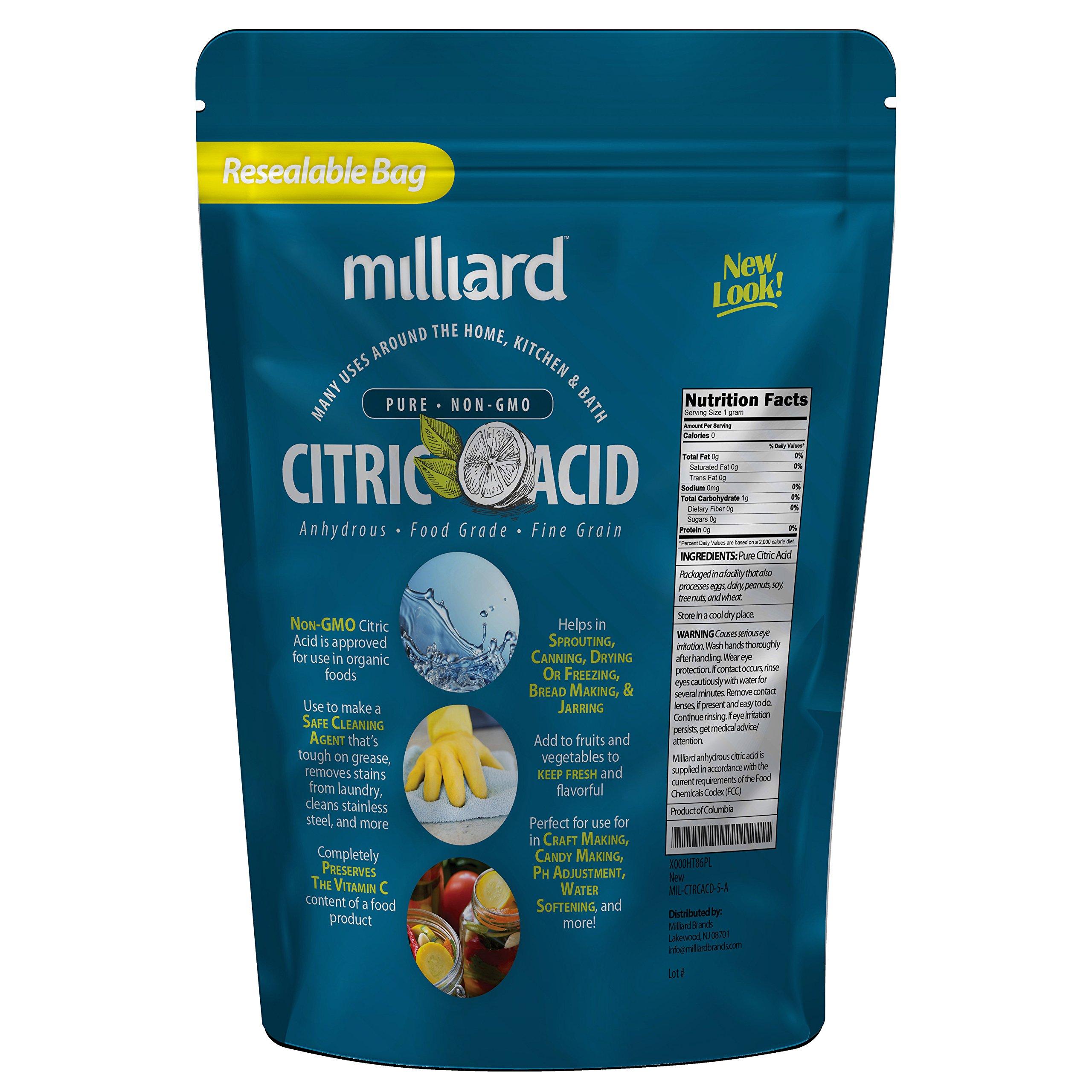 Milliard Citric Acid 5 Pound - 100% Pure Food Grade NON-GMO Project VERIFIED (5 Pound) by Milliard (Image #7)