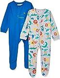 Minoti Boy's Turtle 1 Sleepsuit, Multicolour (Blue/Grey Aop), 9-12 months