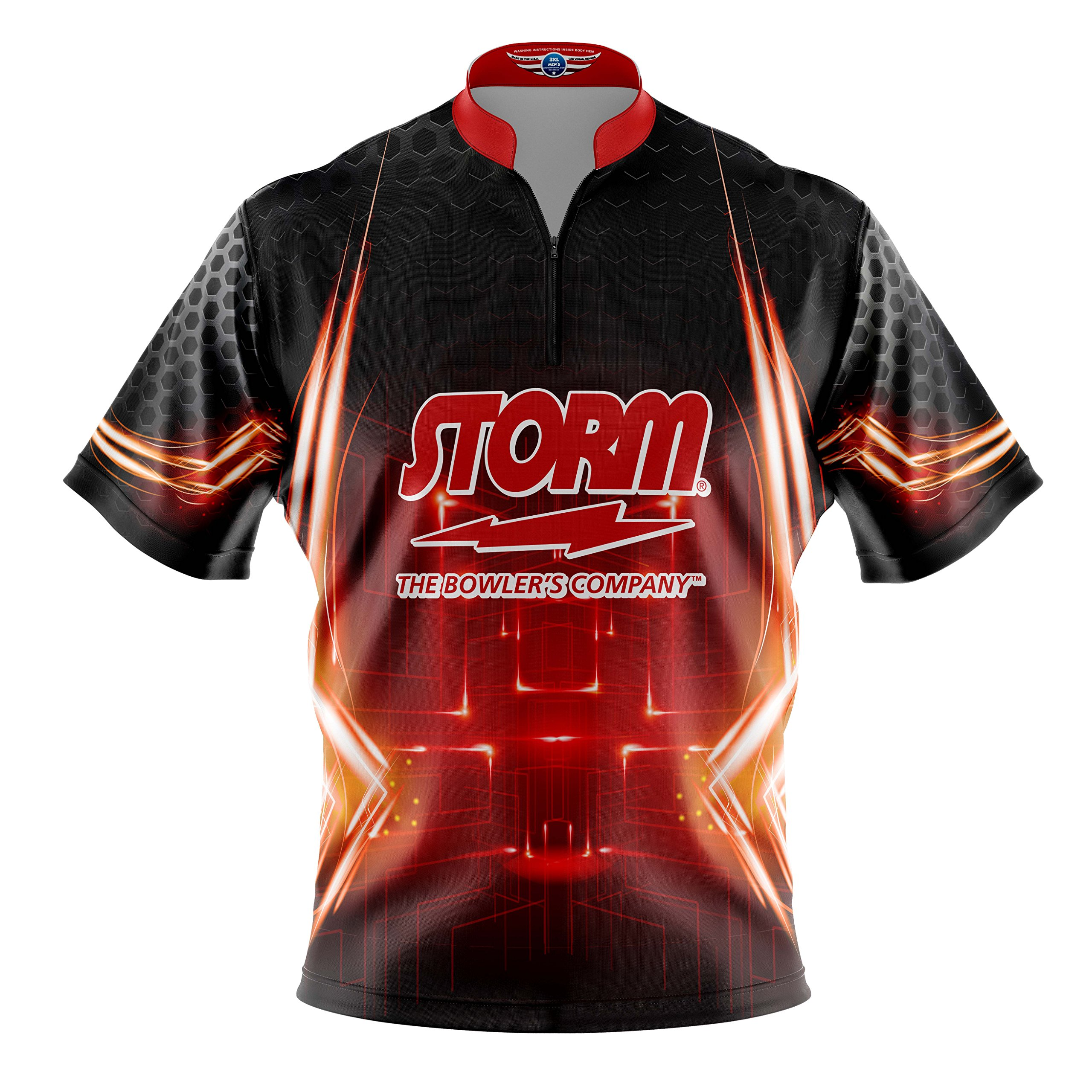 Logo Infusion Bowling Dye-Sublimated Jersey (Sash Collar) - Storm Style 0247 - Sizes S-4XL (2XL) by Logo Infusion