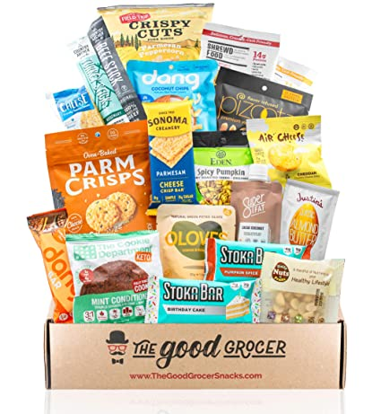 Healthy Keto Friendly Snacks Gift Care Package Low Net Carb 5g Net Carbs Or Less High Fat Gluten Free No Added Sugar Healthy Fats Gift Box